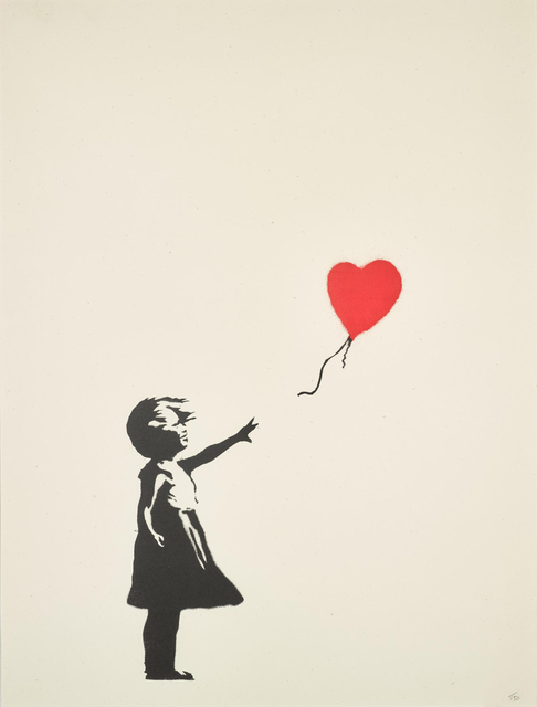Banksy, 'Girl with Balloon (Unsigned)', 2004, Lougher Contemporary