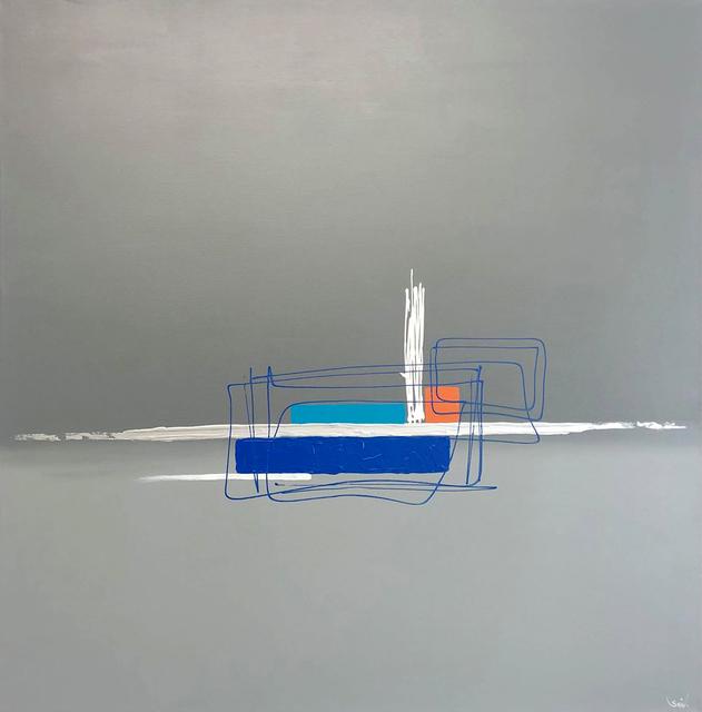 Sév., 'Série The wall: The wall bleu', 2019, Galerie Libre Est L'Art