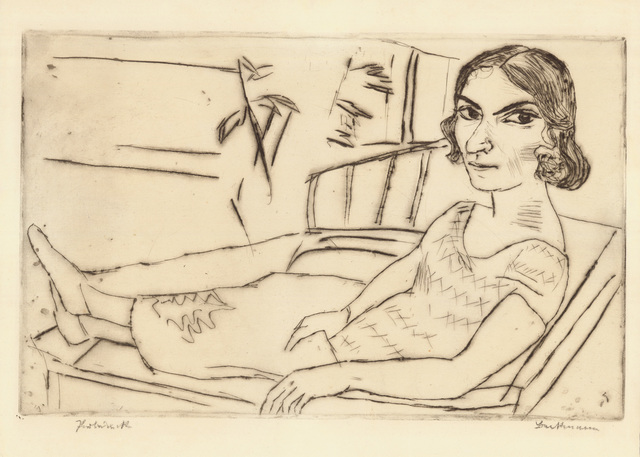 , 'ITALIENERIN,' 1923, Jörg Maass Kunsthandel