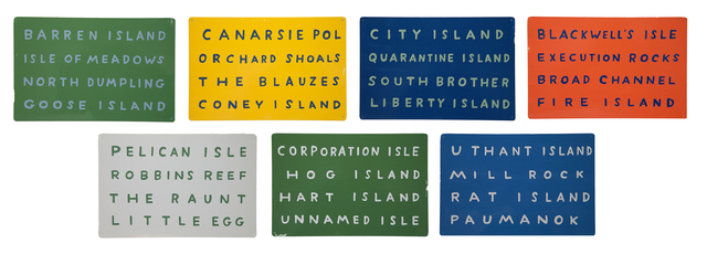 , 'N.Y.C. Islands,' 2012, Cade Tompkins Projects