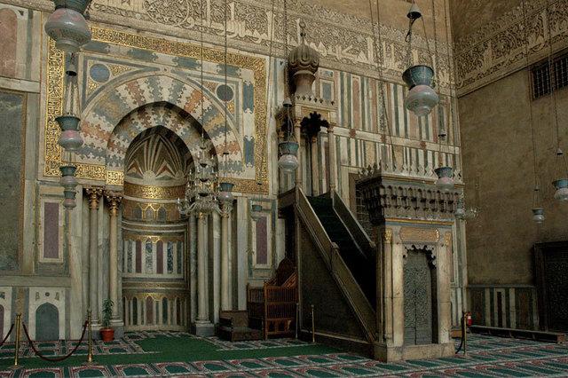 'Qibla Wall with Mihrab and Minbar, Sultan Hasan Madrasa-Mausoleum-Mosque Complex', 1356-1363, Architecture, Art History 101