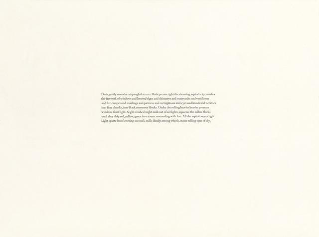, 'John Dos Passos, Manhattan Transfer (94)  ,' 2018, Gallery Joe