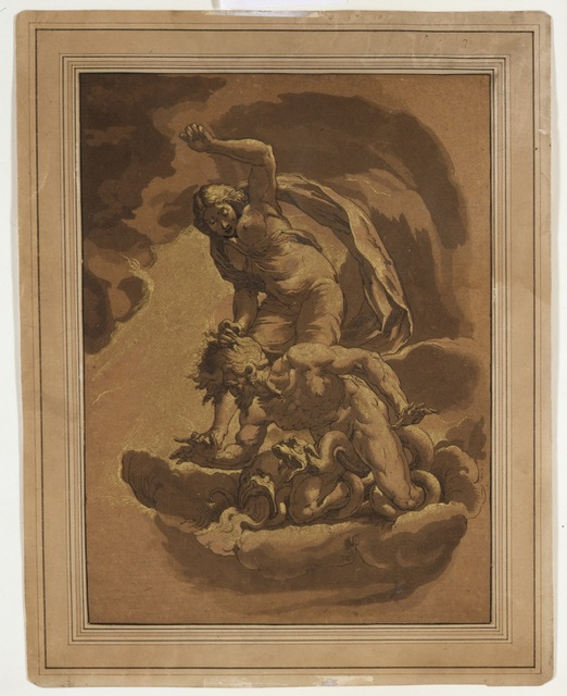 , 'Virtue Overcoming Vice ,' 1781, Bowdoin College Museum of Art