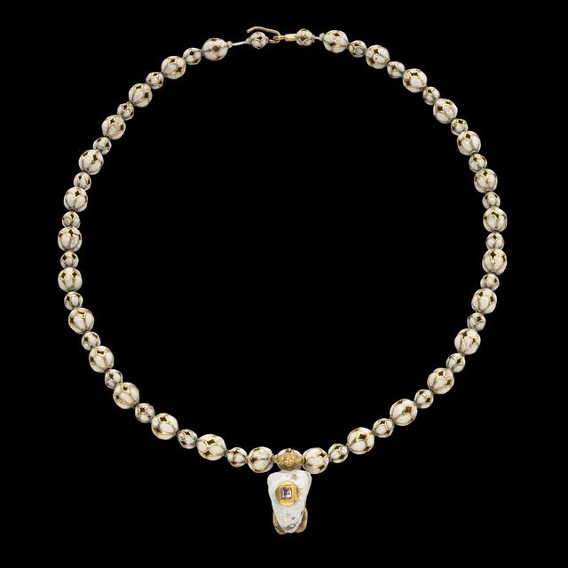 , 'Renaissance Enamel Necklace with Satyr Pendant,' late 16th century, Les Enluminures
