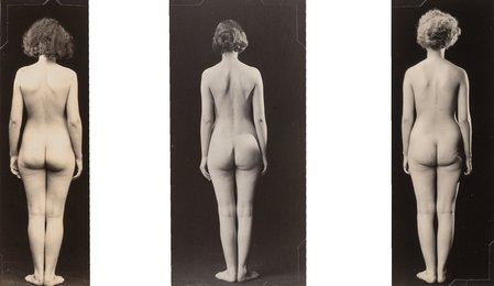 Nudes Facing Away (Triptych)