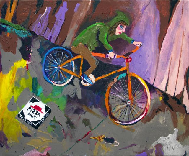 Huey Crowley, 'Night Bike Ride Ft. Pizza Rat', 2016, Tatjana Pieters