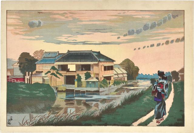 , 'Sunset at Yanagishima ,' ca. 1877-78, Scholten Japanese Art