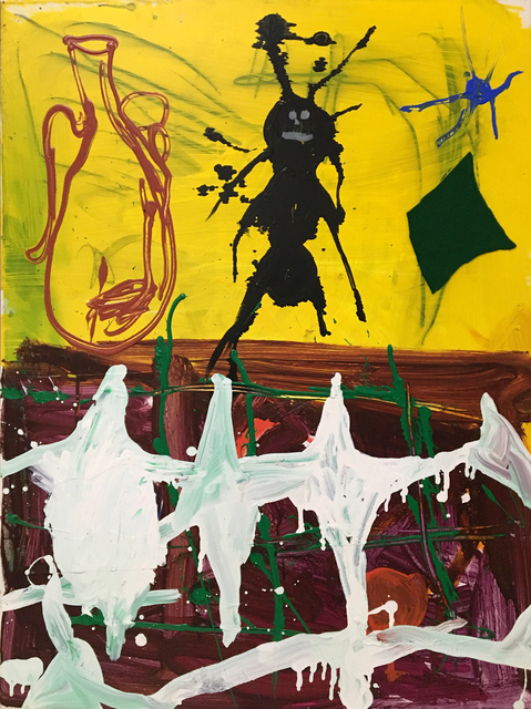 Cristina de Miguel, 'We like ants ', 2020, Painting, Acrylic, enamel and collage on canvas, PUBLIC Gallery