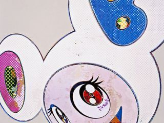 Takashi Murakami, 'And Then white - superflat pink and blue ears', Ode to Art