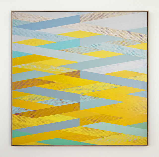 , 'Weave with Yellow & Aqua,' 2016, Julie Nester Gallery