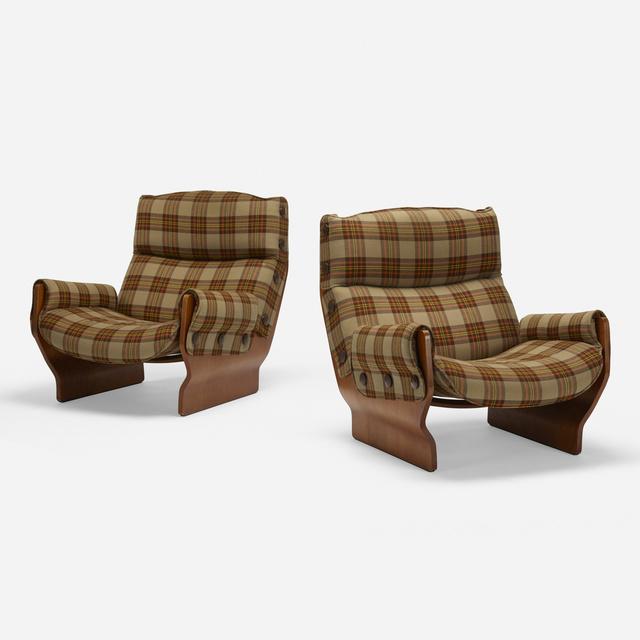 Osvaldo Borsani, 'Canada lounge chairs, pair', 1965, Wright