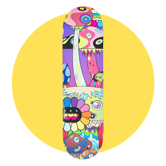 Takashi Murakami, 'Takashi Murakami Skateboard Deck', 2019, Design/Decorative Art, Offset printed on maple wood skateboard deck, Lot 180