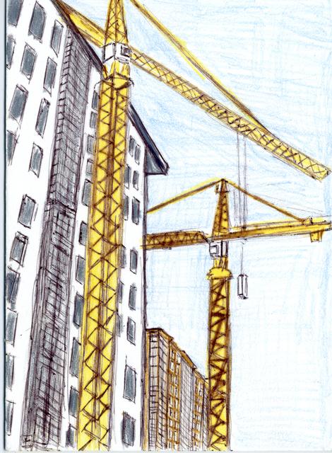 Lance Rivers, 'Crane Landscape', 2011, Creativity Explored