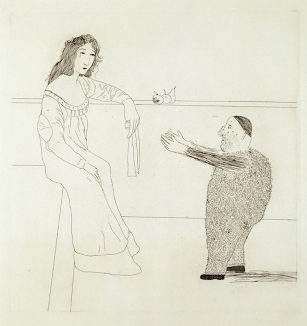 David Hockney, 'Pleading for the Child from Illustrations for Six Fairy Tales from the Brothers Grimm', 1969, Grob Gallery