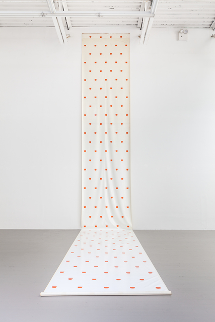 , 'Roll of waxed canvas,' 1968, Swiss Institute