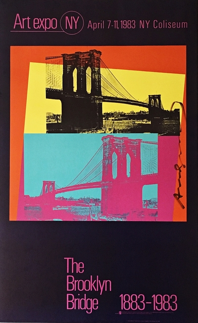 , 'Art Expo NY - The Brooklyn Bridge 1883 - 1983 (Hand Signed by Andy Warhol),' 1983, Alpha 137 Gallery