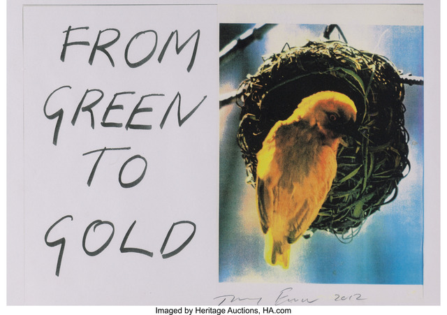 Tracey Emin, 'From Green to Gold', 2012, Heritage Auctions