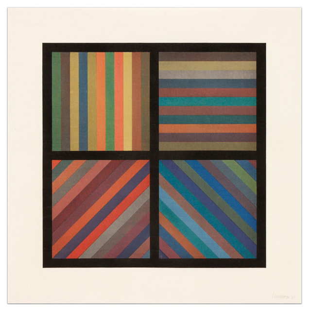 Sol LeWitt, 'Bands of Lines in Four Directions', 1993, Upsilon Gallery
