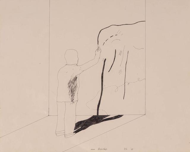 David Hockney, 'Man Drawing', 1965, Doyle