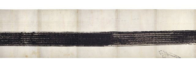 Robert Rauschenberg, 'Automobile Tire Print', 1953, Print, Paint on 20 sheets of paper mounted on fabric, San Francisco Museum of Modern Art (SFMOMA)