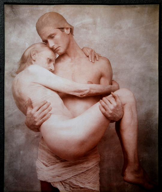 , 'Young Man Holds Old Man,' 1990, Be-hold