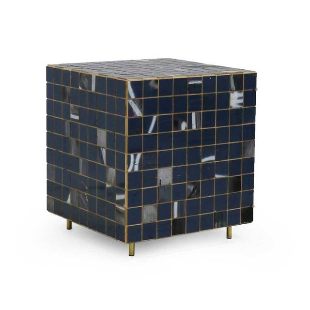 , 'Blue & White Waste Tile Cube Cabinet,' 2018, The Future Perfect