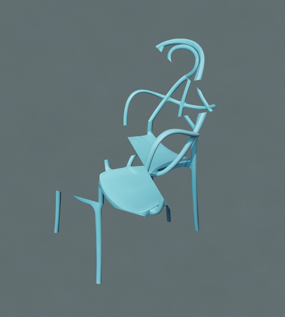 , 'Deconstructing my Blue Metal Chair,' 2016, Bruno David Gallery
