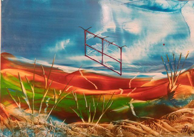 Matthias Dräbing, 'Fliegender fensterrahmen', 2018, Galerie Makowski