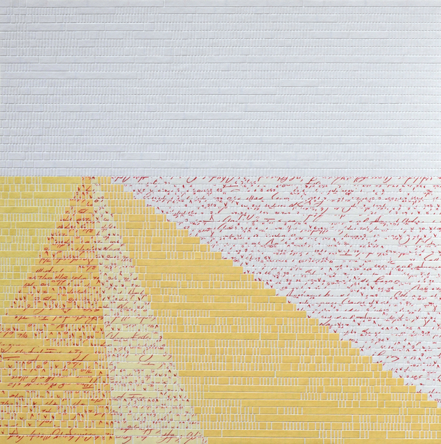 Jill Sylvia, 'Tulipomania Series, Reconstruction 3', 2012, Drawing, Collage or other Work on Paper, Hand-cut ledger paper & Matte Board, Eleanor Harwood Gallery