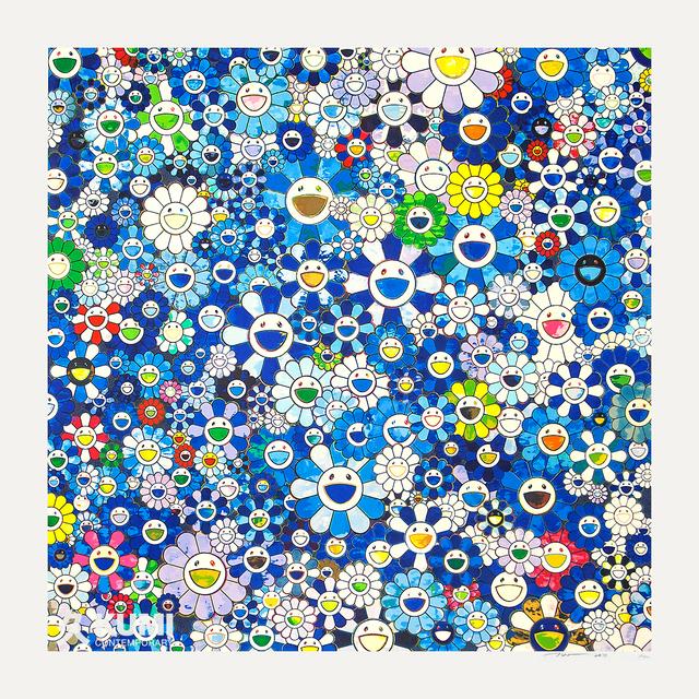 Takashi Murakami, 'Shangri-la Shangri-la Shangri-la Blue Silkscreen', 2017, Print, Silkscreen, Kumi Contemporary / Verso Contemporary
