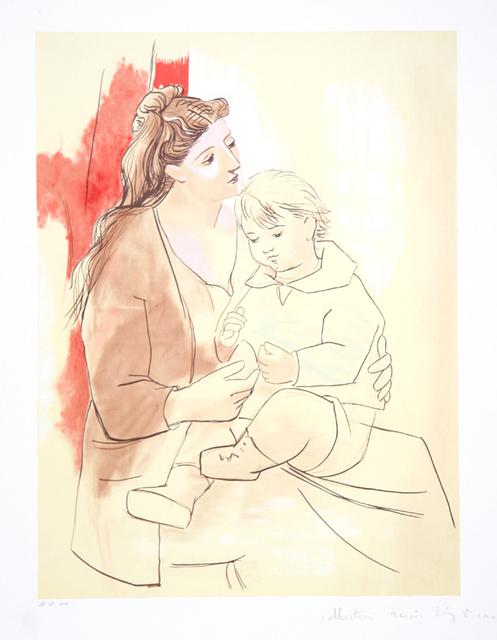 Pablo Picasso, 'Maternite au Rideau Rouge, 1922', 1979-1982, Print, Lithograph on Arches paper, RoGallery