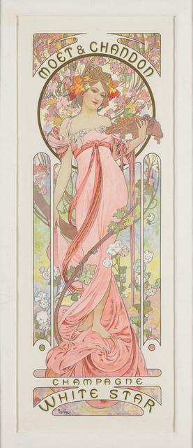 Alphonse Mucha, ' MOËT & CHANDON: CHAMPAGNE WHITE STAR', 1899, Christopher-Clark Fine Art