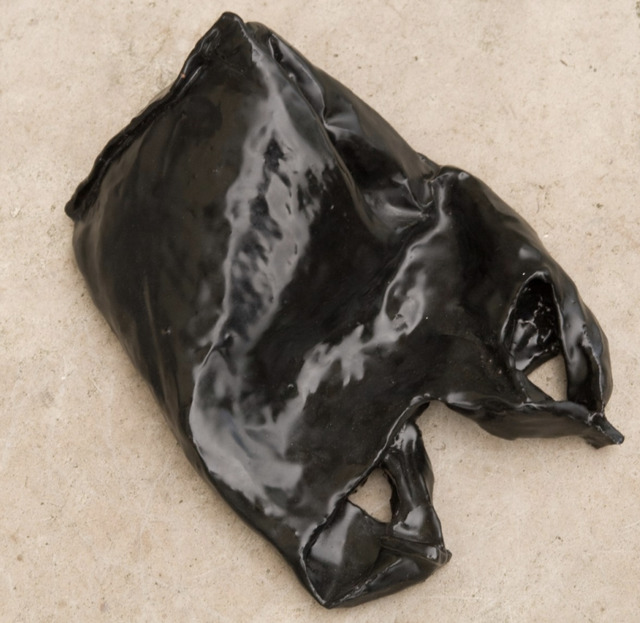 Kasia Ozga, 'Grocery Bag I (Sac I)', 2008, Sculpture, High fired clay, black glaze, Superposition