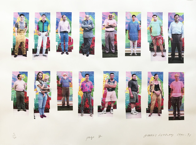 David Hockney, 'LA Visitors (page 2)', 1990-1991, Print, Composite still video portrait printed on a color laser printer, Hamilton-Selway Fine Art Gallery Auction