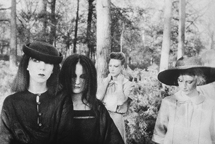 Deborah Turbeville, 'Ella, Anna, Isabelle, Fredericke, and Robin in Valentino at the Bois du Faux Repos, Normandy, VOGUE Italia', 1978, Staley-Wise Gallery