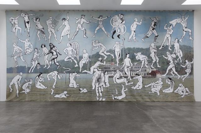 , 'Mississippi River Mural,' 2013, MASS MoCA
