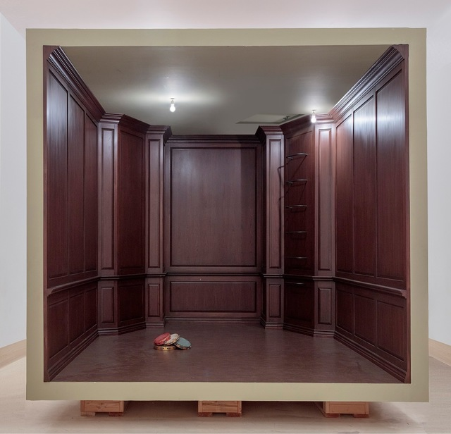 , 'No title (paneled room),' 2017, Gagosian