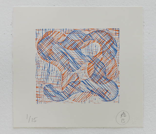 Richard Deacon, '1+1=10 Orange/Blue', 2013, STPI