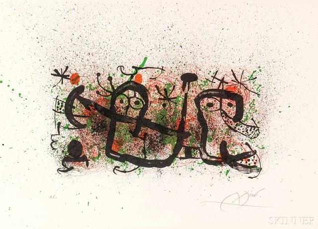 Joan Miró, 'Plate 5', 1970, Skinner