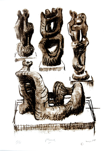 Henry Moore, 'Ideas for Wood Sculpture', 1974, Peter Harrington Gallery