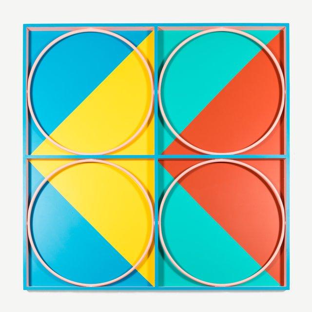 Przemek Pyszczek, 'Facade Painting, CA', 2019, Painting, Dibond, painted steel, acrylic paint, Todd Merrill Studio