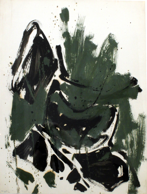 , 'Abstraction (Green, Black, Brown),' 1961, Louis Stern Fine Arts