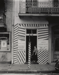 Sidewalk and Shopfront, New Orleans