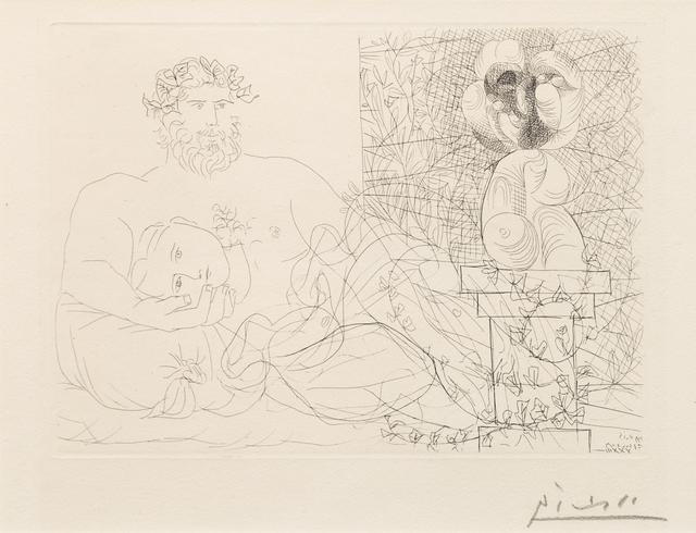Pablo Picasso, 'Le Repos du sculpteur et la sculpture surrealiste', 1933, Print, Etching, Hindman
