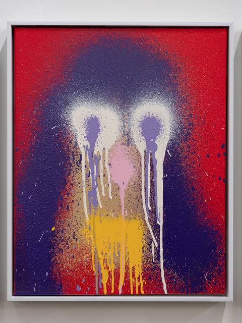 KATSU, 'Untitled (Survey of Identity Drone portraits)', 2020, Painting, Atomized enamel on acrylic primed canvas, Diane Rosenstein