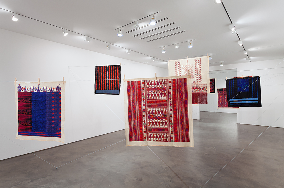 "Mona Hatoum with Inaash, ""Twelve Windows,"" 2012-2013. Centre Pompidou. © Courtesy of the artist and Alexander and Bonin, New York © Photo Courtesy Alexander and Bonin, New York, [photo Joerg Lohse]."