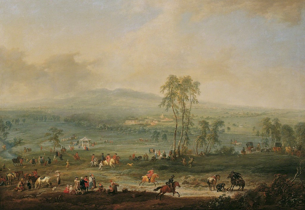 Johann Christian Brand, Laxenburg from the Schneiderau towards Guntramsdorf and Mödling, 1758, © Belvedere, Vienna