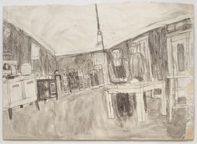 , 'Untitled (Kitchen interior with figures; verso: house in color),' n.d., Fleisher/Ollman