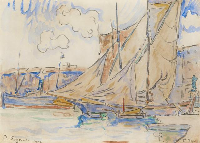 , 'Le port de Saint-Tropez,' 1902, Stoppenbach & Delestre