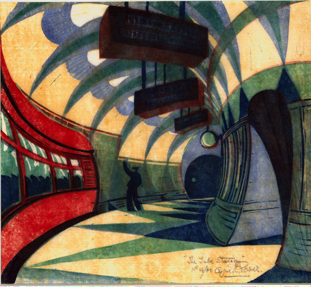 , 'The Tube Station,' 1932, Redfern Gallery Ltd.